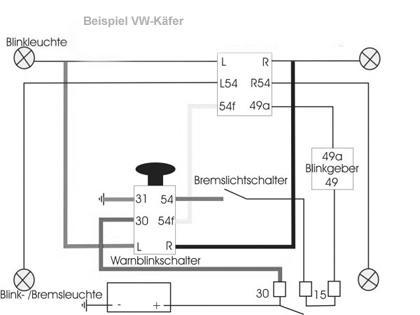 MG TC Blinker-Bremslicht Relais